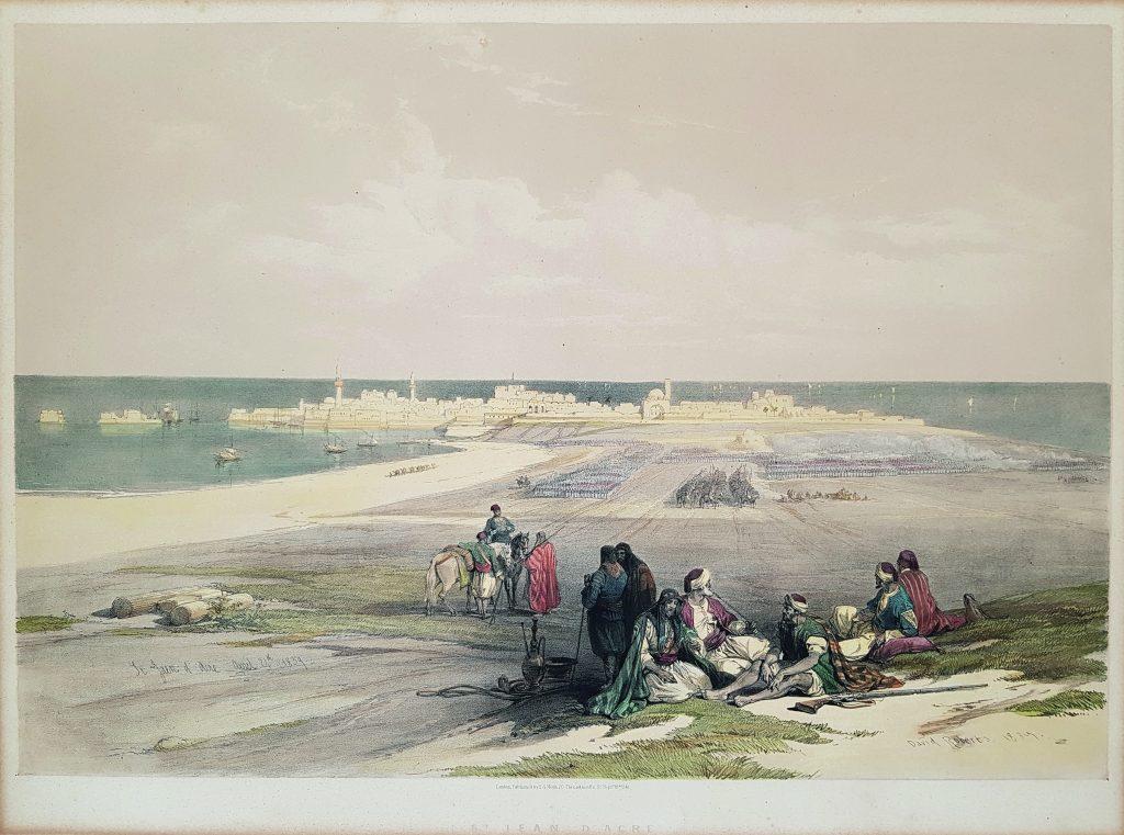 """Gemälde von Akkon, Teil der Sonderausstellung """"Vor Anker gehen"""""""