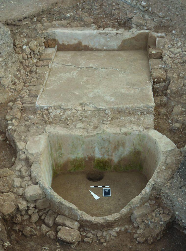 Die Weinpresse in Tell el-Burak.