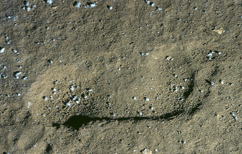 Die Fußabdrücke in der Galería de las Huellas.