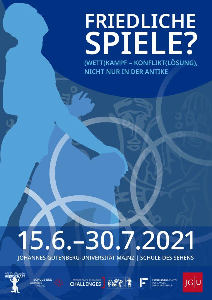 """Plakat zur Ausstellung """"Friedliche Spiele?""""."""