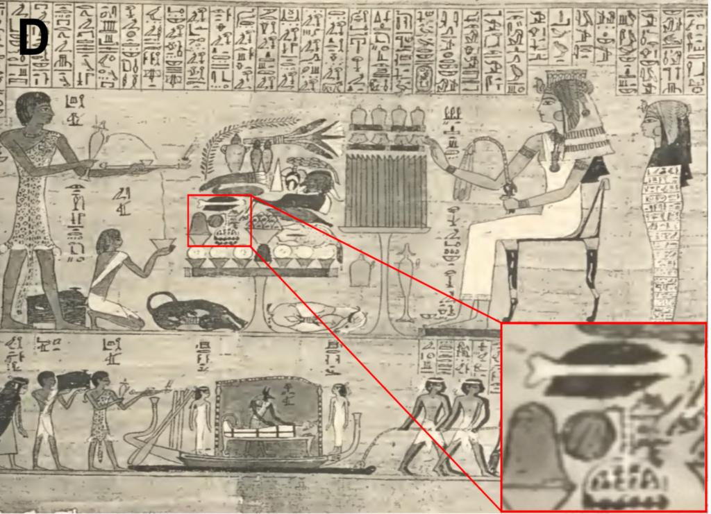 Die Wassermelone in einer Zeichnung in einem ägyptischen Grab