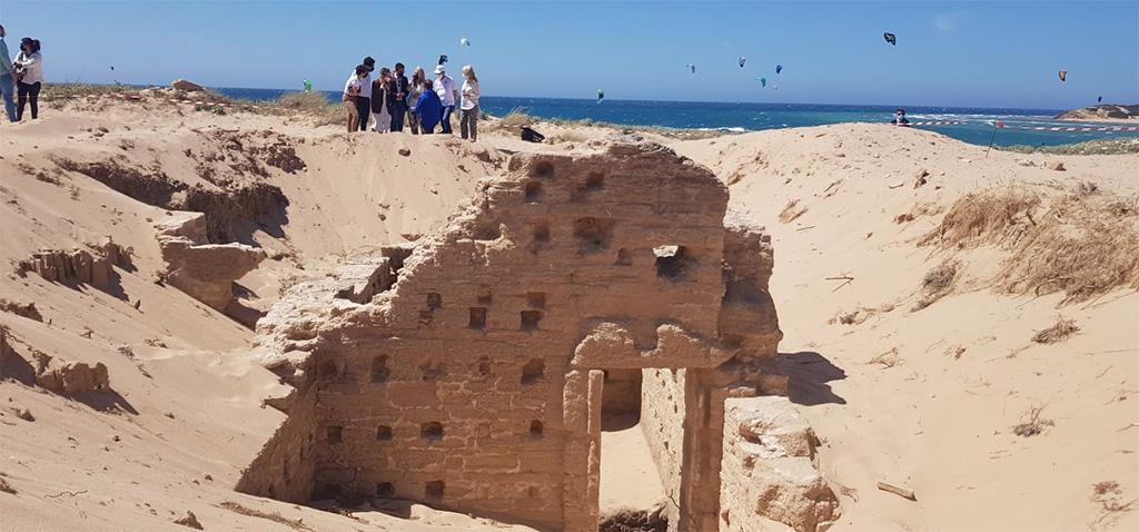 Bilder von der Ausgrabung in Caños de Meca. Zu sehen ist das römische Bad.