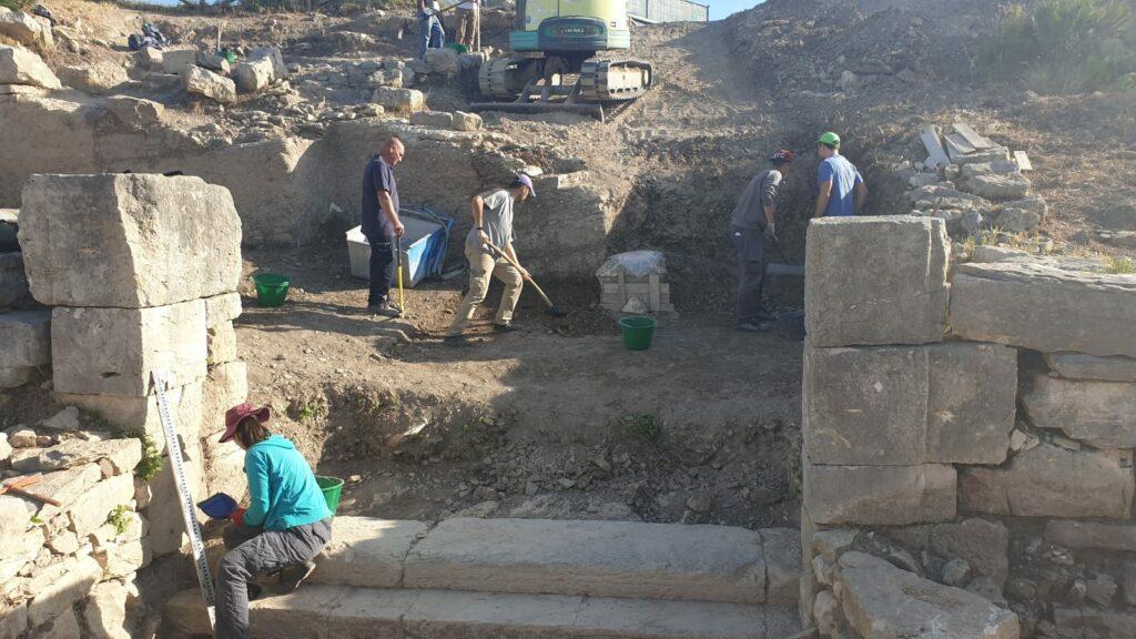 Ausgrabung an der Agora