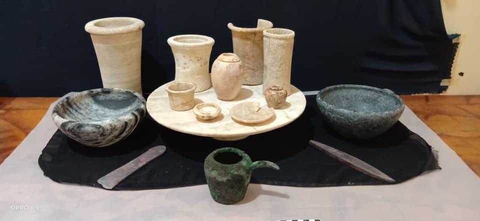 Teile der Funde (Credit: Ministerium für Tourismus und Kultur)