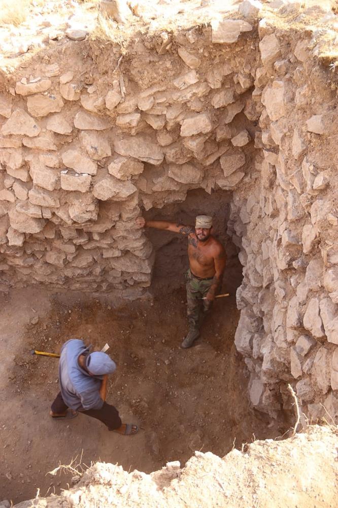 Mauerreste der Festung.