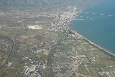 Luftbild von Siponto